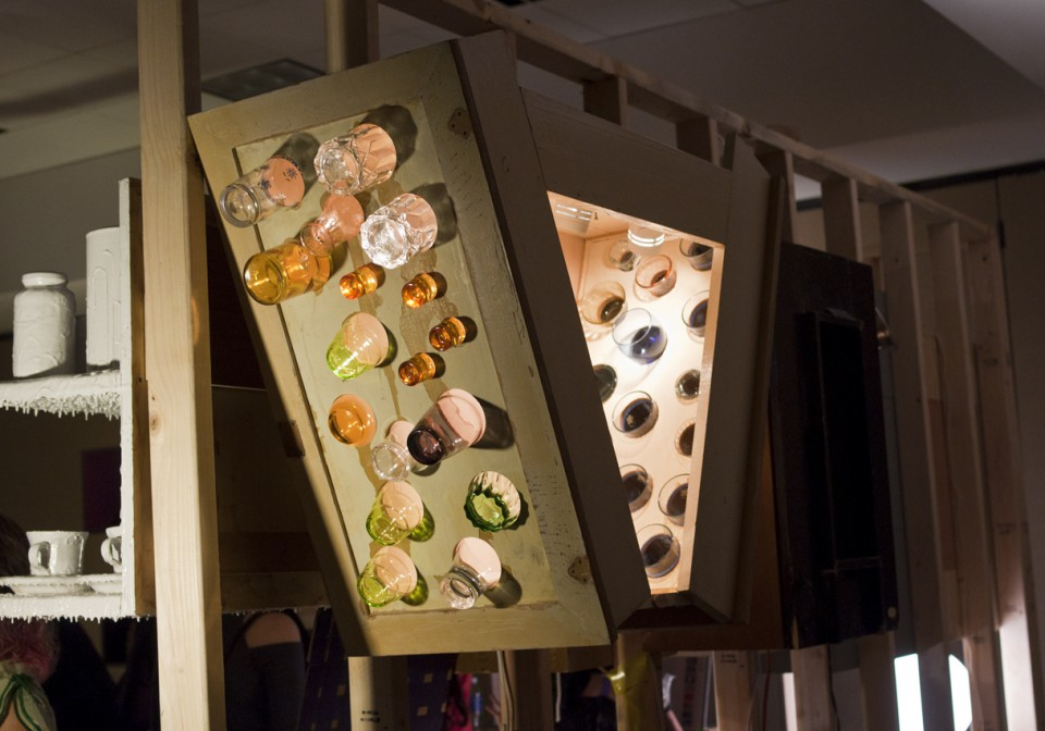 Lamp? Glass Storage? Creative Cabinet? We'll let you decide.